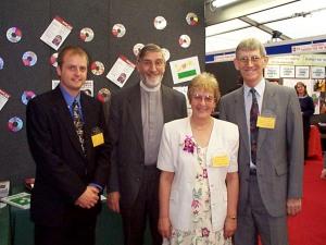 Antony Kearns, Canon Alan Luff, Joyce Hoare & Revd Brian Hoare